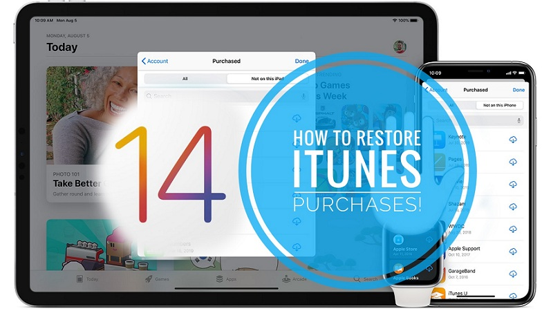 how to restore missing iTunes purchases