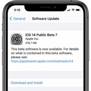 iOS 14 Public Beta 7 software update