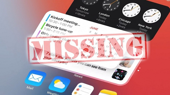 iOS 14 widgets missing