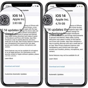 ios 14 software update file size