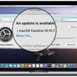 macOS Catalina 10.15.7 software update
