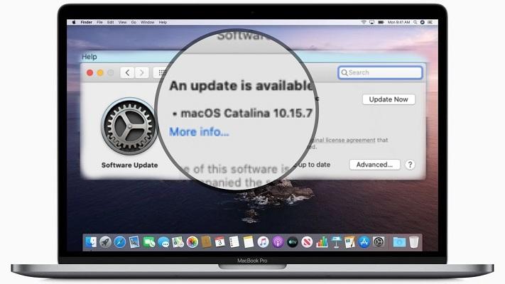 macOS Catalina 10.15.7 software update