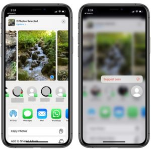 trick to remove contact from share suggestions in iOS 14