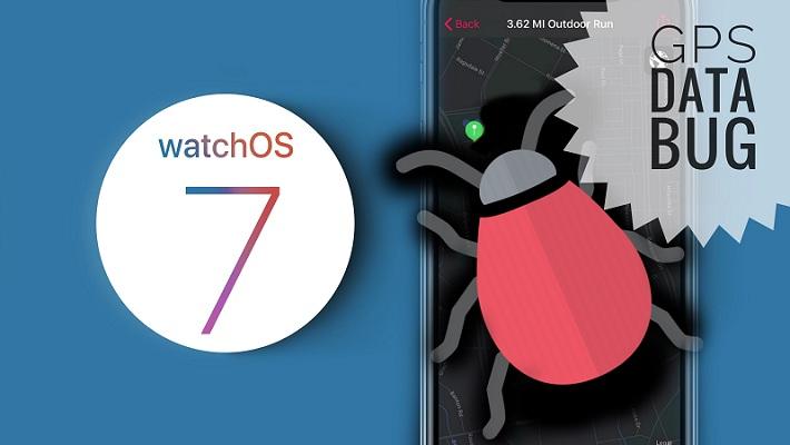 watchOS 7 GPS data bug