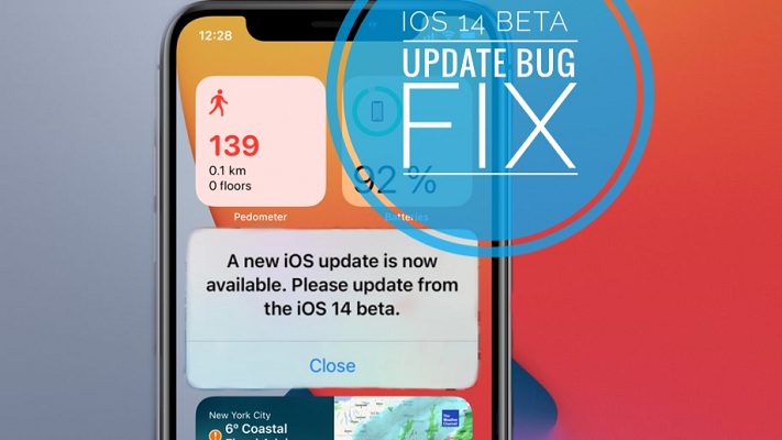 A New iOS Update Is Now Available prompt