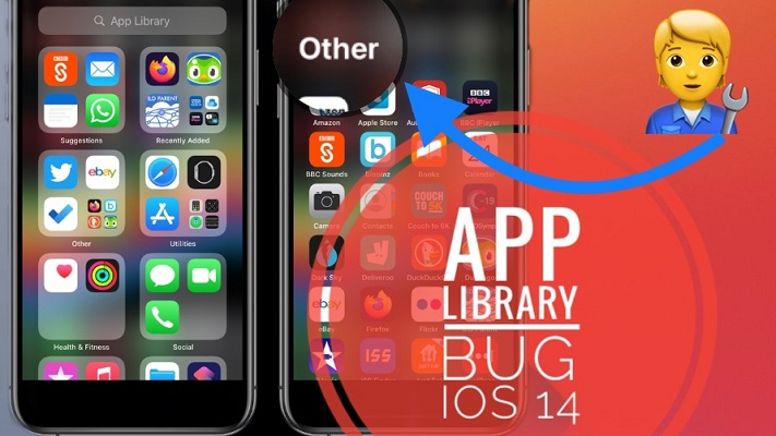 App Library Bug in iOS 14