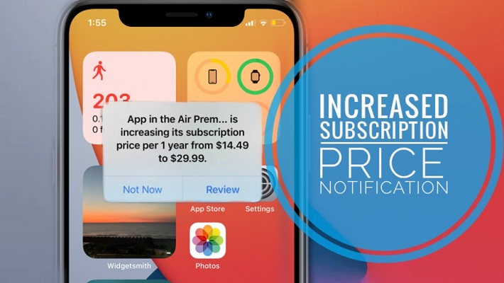 App Store Increased Subscription Price notification