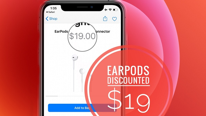 Apple EarPods Discounted Price