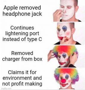 Apple controversial iPhone updates timeline meme