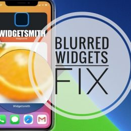 Blurry photo in Widgetsmith widget