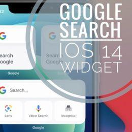 Google Search widget on iPhone Home Screen
