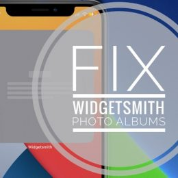 How to fix Widgetsmith Photo Album bug