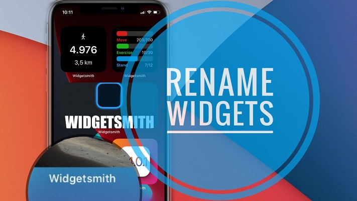 How to rename widgets in iOS 14