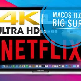 Netflix 4K HDR Video Streaming in macOS Big Sur