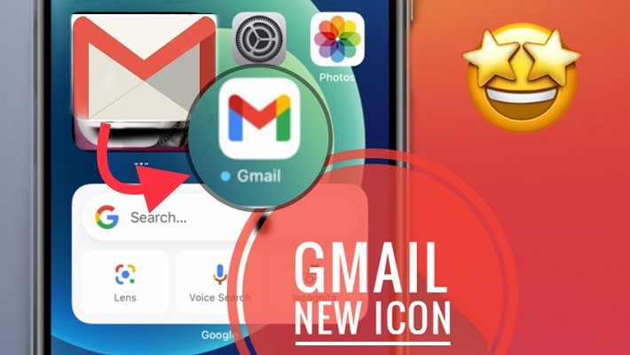 New Gmail icon on iPhone Home Screen