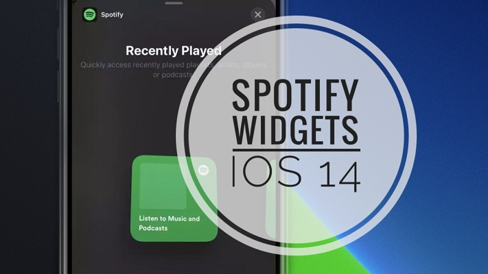 Spotify widget for Home Screen in iOS 14