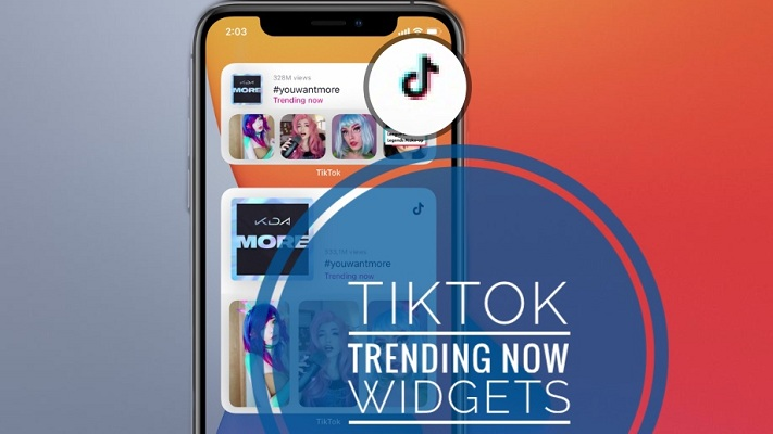 TikTok Trending Now Widget for Home Screen