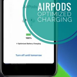 airpods pro optimized battery charging on connection screen
