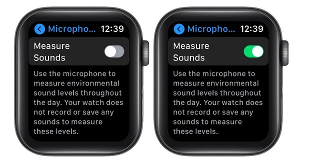 enable measure sounds apple watch feature