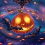 happy halloween cartoon wallpaper