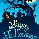 happy halloween wallpaper blue