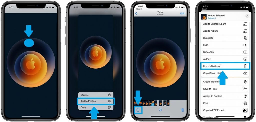 how to download and set hi speed wallpaper on iPhone
