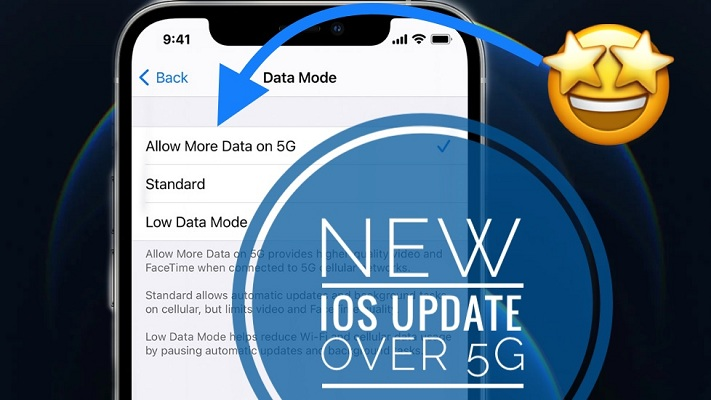 how to enable iOS 14 updates over 5G cellular data