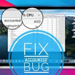 how to fix accountsd bug that slows down Mac