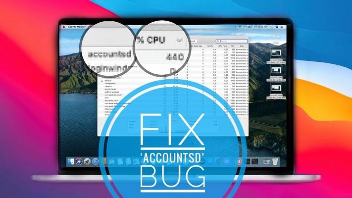 how to fix accountsd bug that slows down Mac