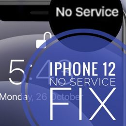 how to fix iPhone 12 No Service issue