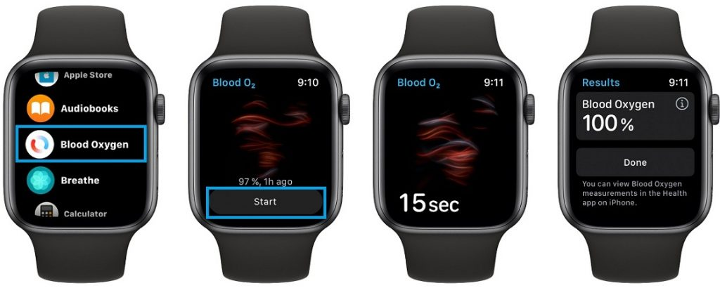 how to measure Bloog Oxygen with Apple Watch Series 6
