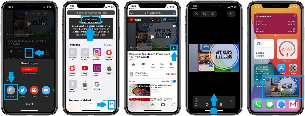 How To Watch Youtube Videos Picture In Picture On Iphone In Ios 14