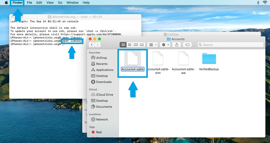 how to rename sqlite file