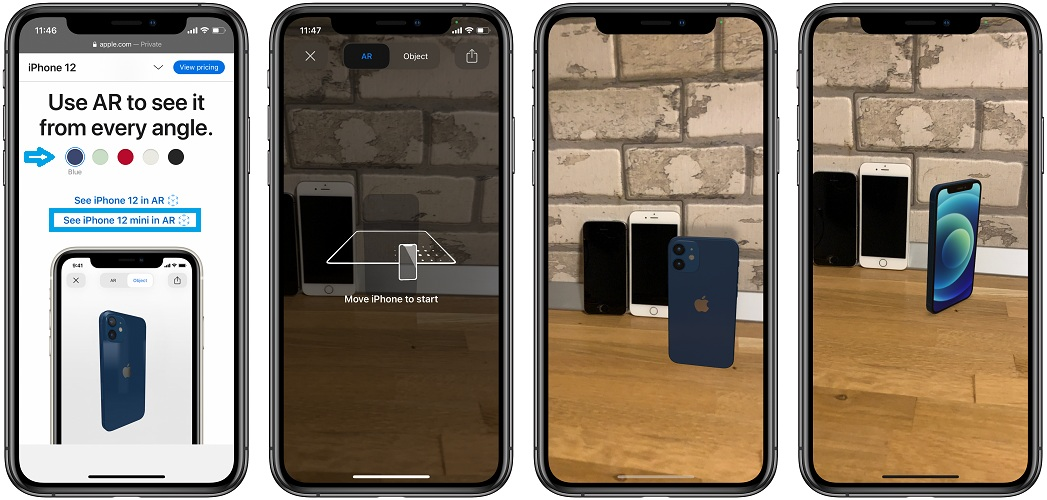 how to render iPhone 12 mini in AR