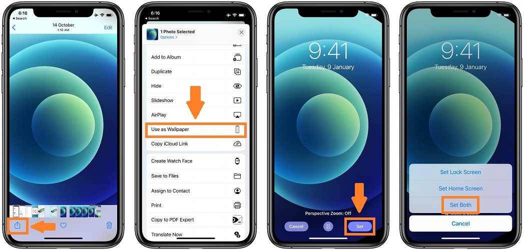 how to set iPhone 12 wallpaper