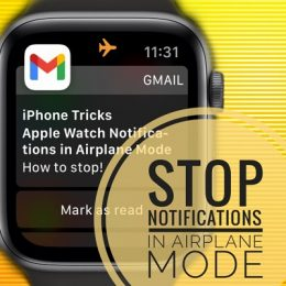 how to stop Apple Watch notifications in Airplane Mode