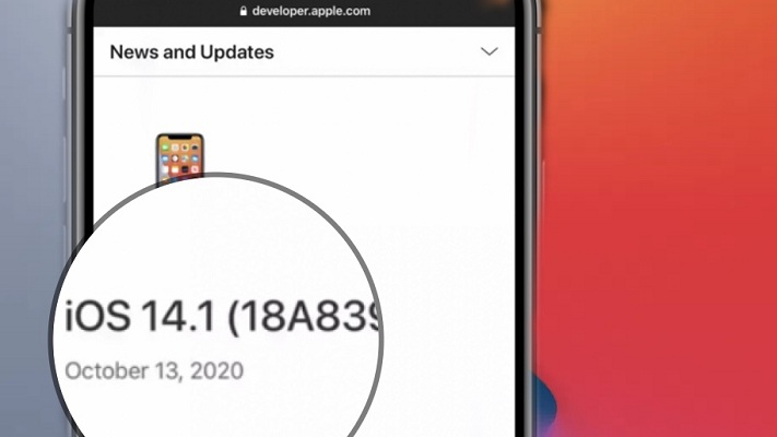 iOS 14.1 software update