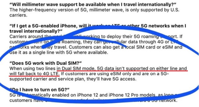 iPhone 12 Dual SIM no 5G confirmed by Apple internal document