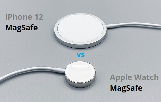 iPhone 12 MagSafe charger vs Apple Watch charger
