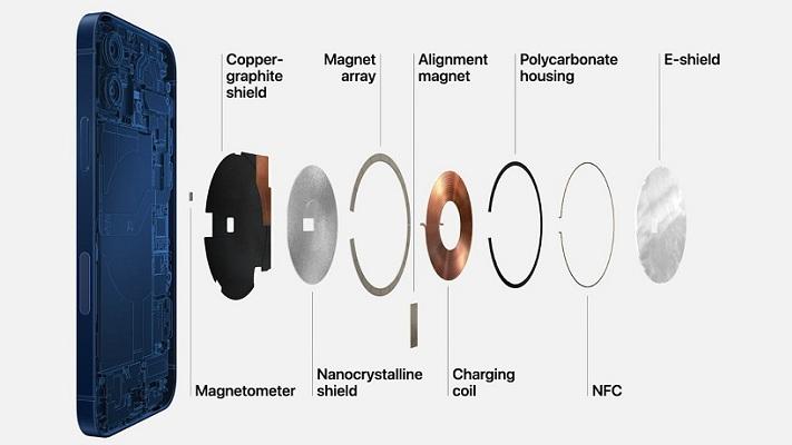 iPhone 12 magsafe charging port schematics