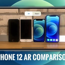 iPhone 12 mini AR size comparison