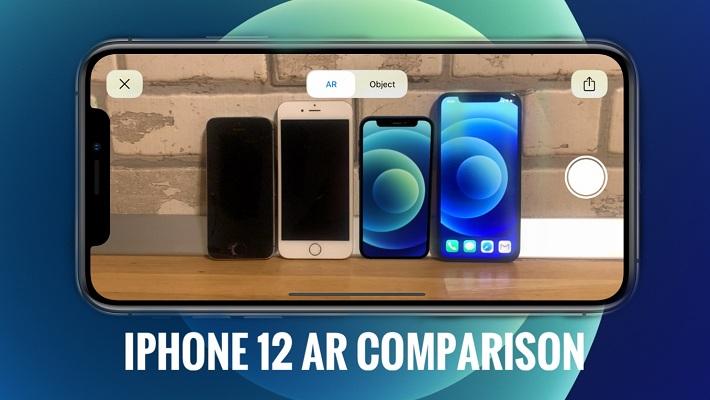 iPhone 12 mini AR size comparison