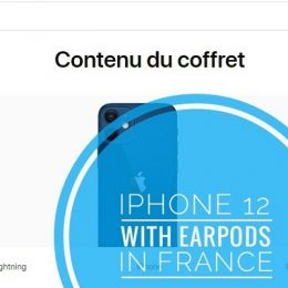 iPhone 12 sold with EarPods in France