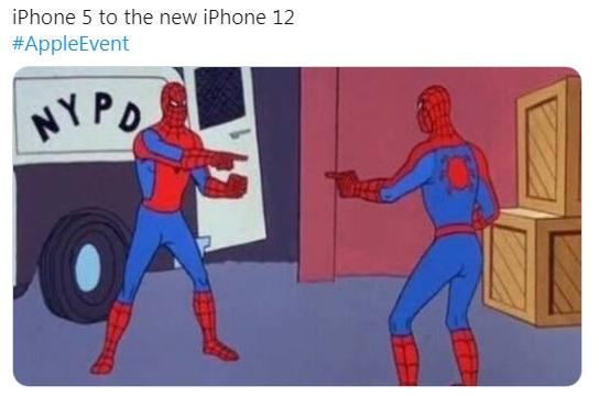iphone 5 vs iphone 14 spyderman meme