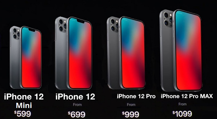 leaked iphone 12 lineup