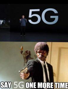 meme mocking Apple for 5G breakthrough