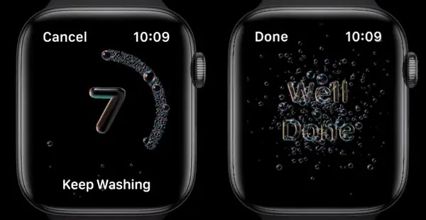 new watchos 7 handwashing feature