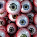 spooky eyeballs wallpaper for halloween