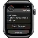 watchOS 7 power reserve alert