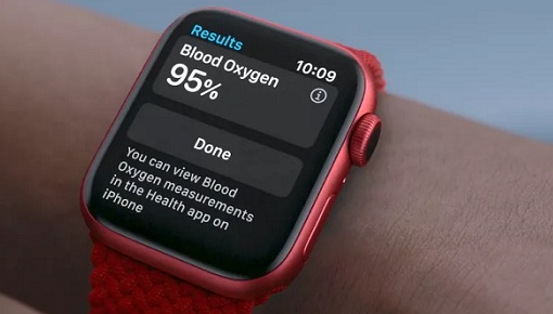 watchos 7 bloog oxygen reading
